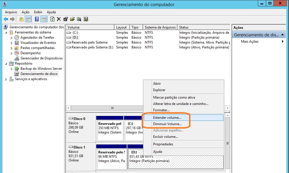 Windows Server 2012 R2 - gerenciamento