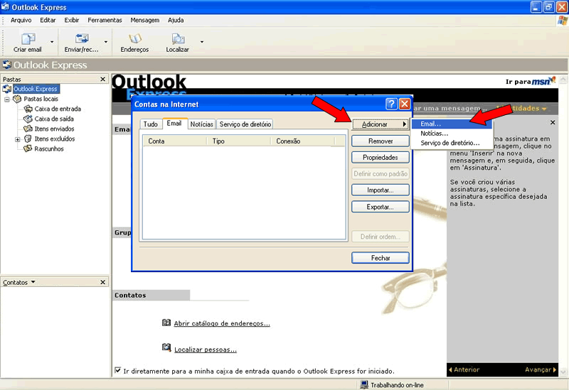 mail no Outlook - e-mail