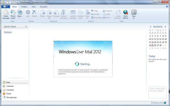 windows live mail 2012 - 01